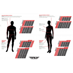 Guide des tailles pantalons FLY Racing