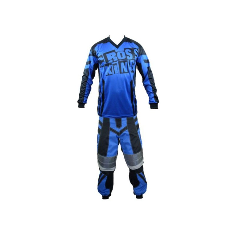 Tenue cross BMX bleu