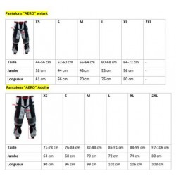 Tailles pantalon BMX enfant