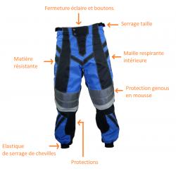 Caractéristique pantalon BMX Cross