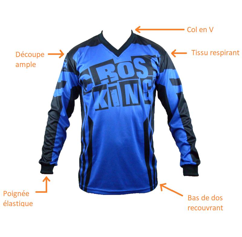 Caractéristique maillot BMX